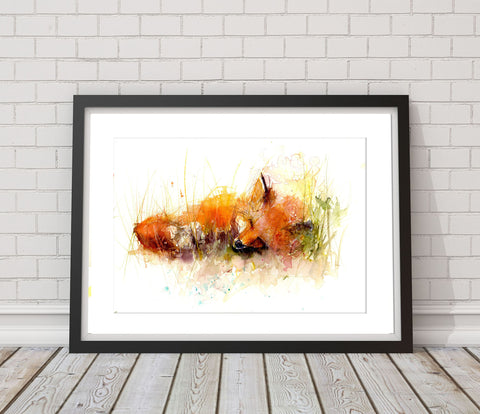 LIMITED EDITON PRINT 'Sleeping Fox'