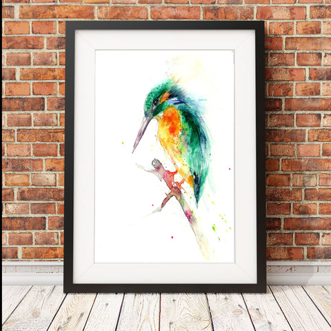 Kingfisher limited edition print