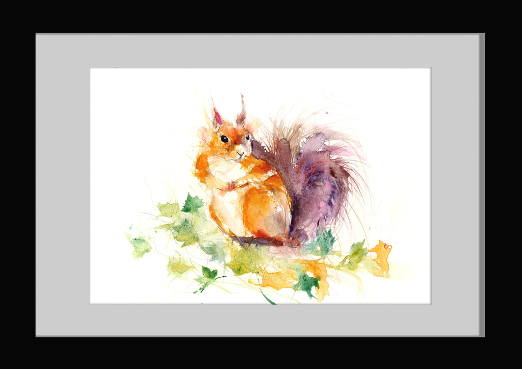 JEN BUCKLEY signed LIMITED EDTION PRINT of my SQUIRREL watercolour A3
