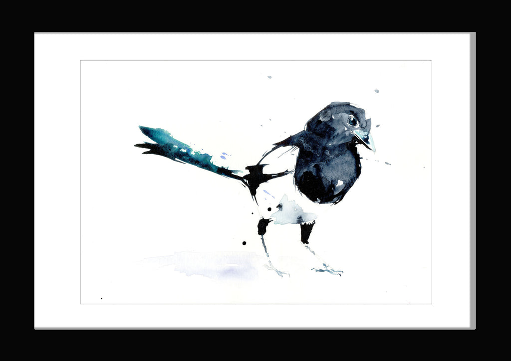 Magpie limited edition print