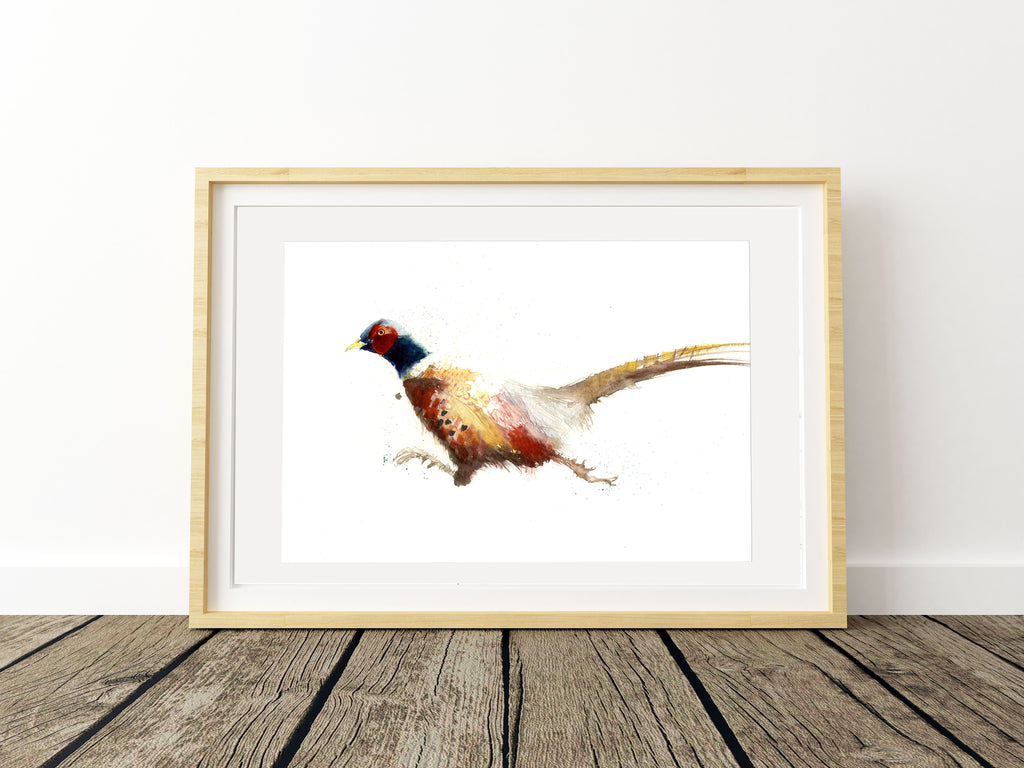 Limited edition print 'Running Pheasant'