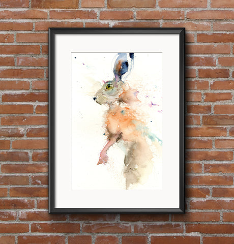 "Limited edition hare print ""On the lookout"""