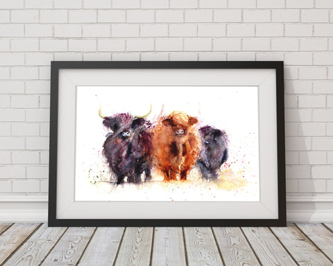 LIMITED EDITON PRINT 'Highland Cows'