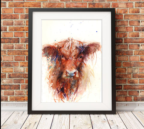 Highland Cow limited edition print