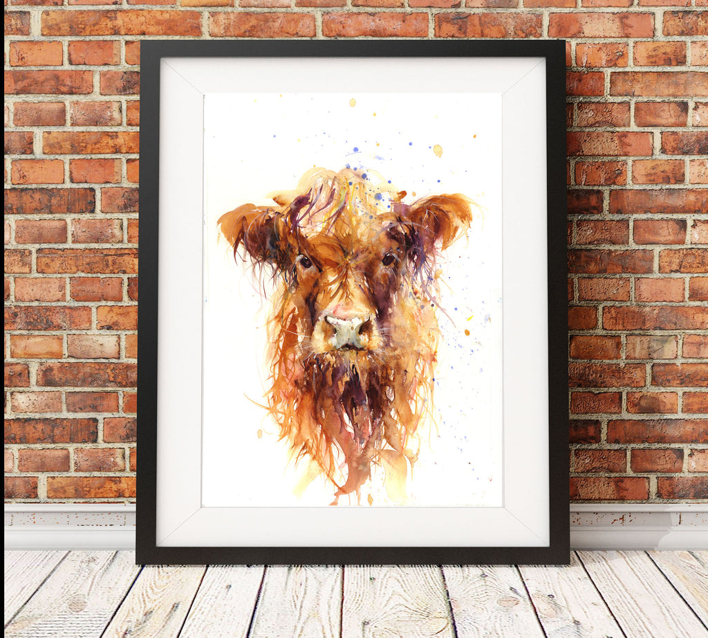 Highland Cow/calf limited edition print