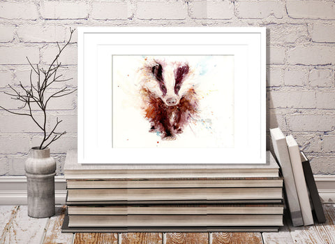 signed and numbered limited edition print - Badger
