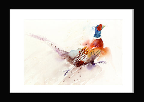 Original watercolour painting 'Running Pheasant'