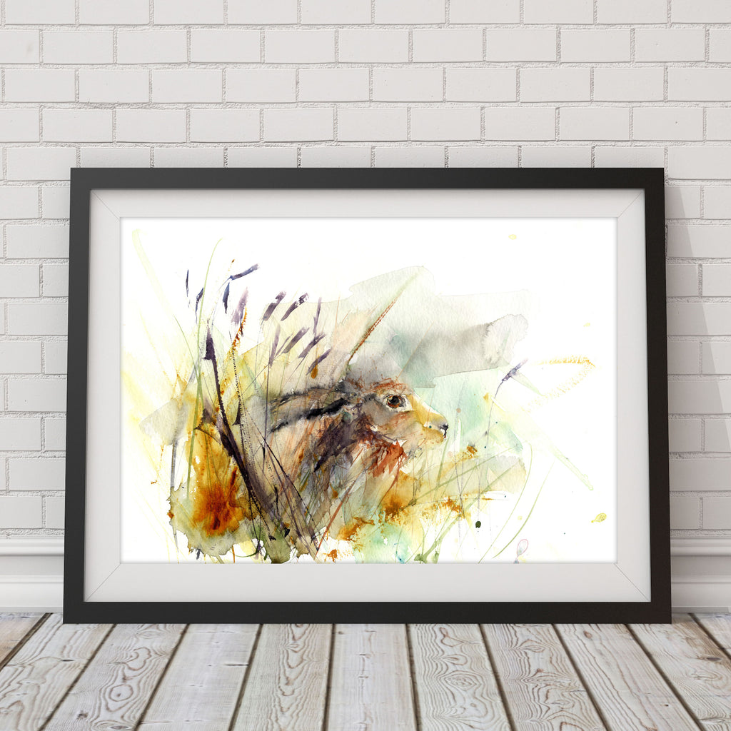 "Limited edition print ""hare in the meadow"""