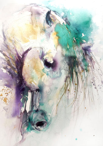 signed LIMITED EDITION PRINT from original HORSE watercolour painting