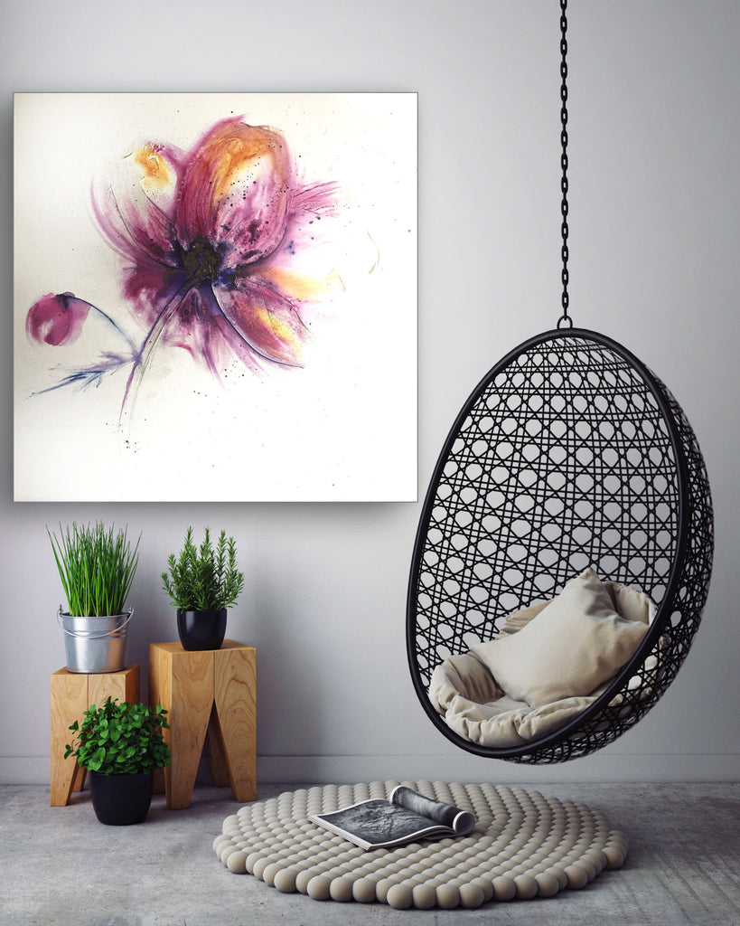 large painting on canvas 'Anemone'