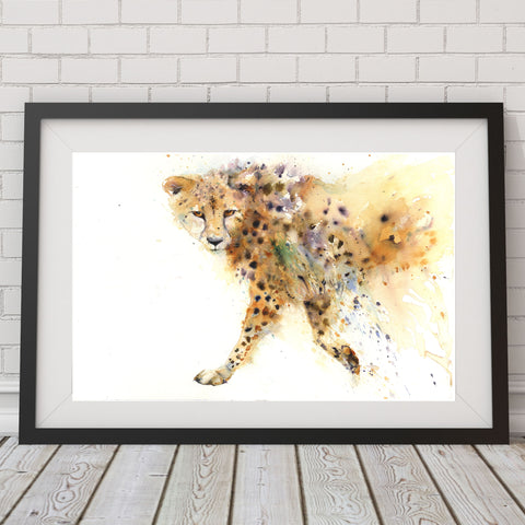 Prowling cheetah limited edition print