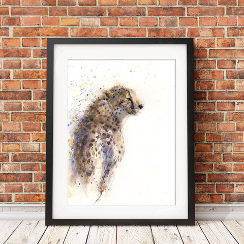 "Original cheetah watercolour painting ""Matrah"""