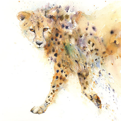 Cheetah limited edition art print by Jen Buckley