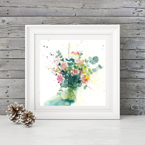 "Contemporary floral art  print ""Columbia Road"""