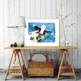 signed limited edition print - Dairy Cow
