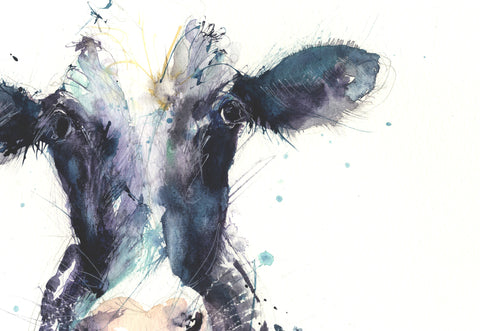 signed LIMITED EDITON PRINT Dairy Cow - Jen Buckley Art limited edition animal art prints