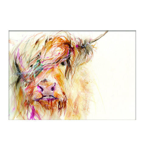 LIMITED EDITON PRINT Highland Cow - Jen Buckley Art limited edition animal art prints