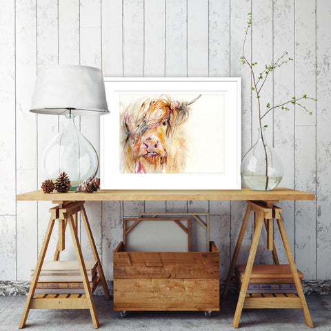 LIMITED EDITON PRINT Highland Cow