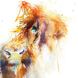 JEN BUCKLEY ART  signed PRINT of my original HIGHLAND COW  watercolour