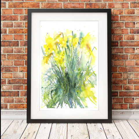 "watercolour painting ""Daffodils"" by Jen Buckley"