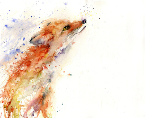 "Limited edition print from original watercolour -  red fox ""Ruby"""