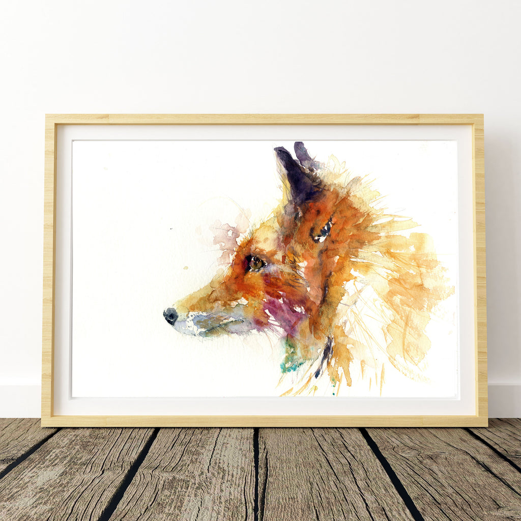Red fox limited edition art print ciglee by Jen Buckley
