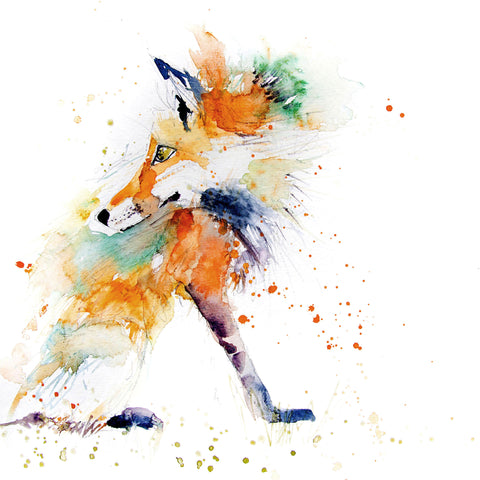 JEN BUCKLEY ART   PRINT  of my original RED FOX watercolour - Jen Buckley Art limited edition animal art prints