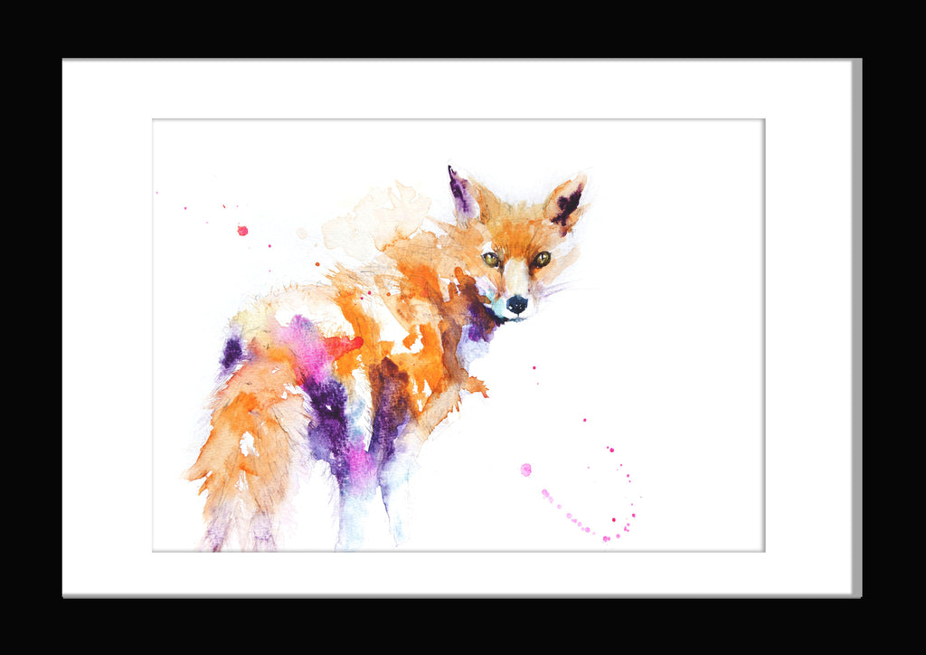 JEN BUCKLEY signed LIMITED EDITON PRINT 'Red Fox' - Jen Buckley Art limited edition animal art prints