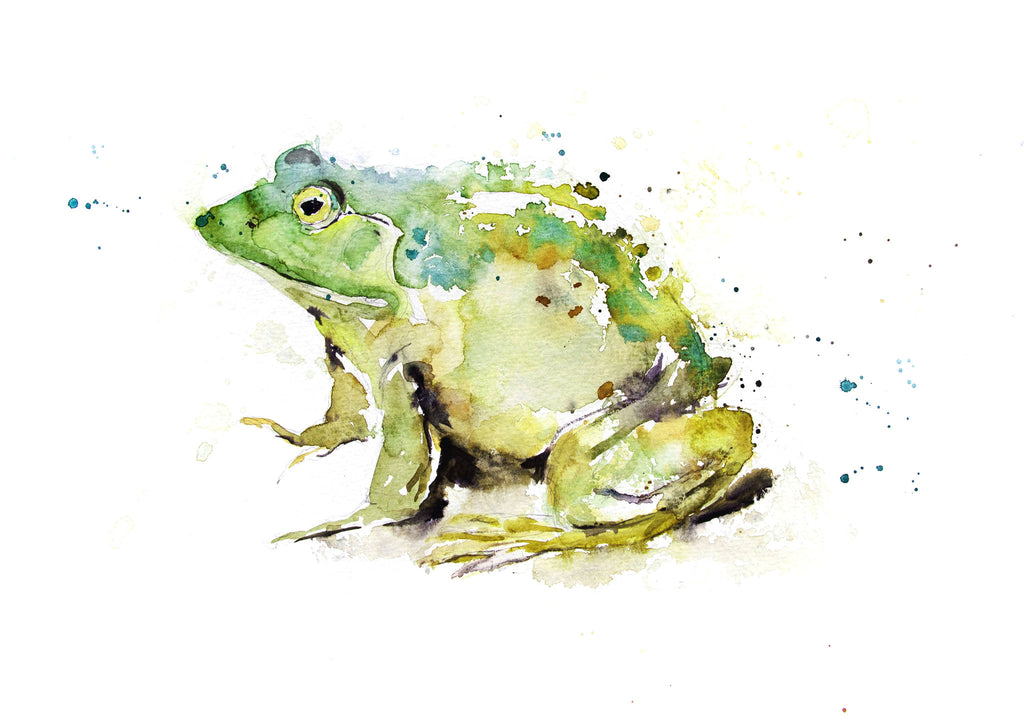 JEN BUCKLEY signed LIMITED EDITION PRINT of my original FROG watercolour - Jen Buckley Art
