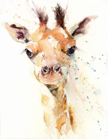 cute baby giraffe print by jen buckley