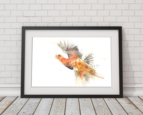 limited edition PRINT of my original RED GROUSE watercolour