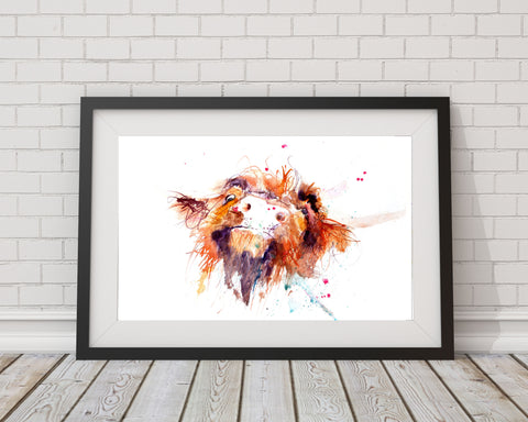 JEN BUCKLEY signed LIMITED EDITON PRINT 'Hairy Cow'