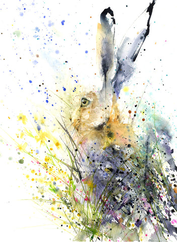 "Limited edition hare print ""Skye"""