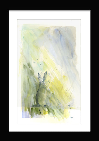"Limited edition print ""hare in the mist"""