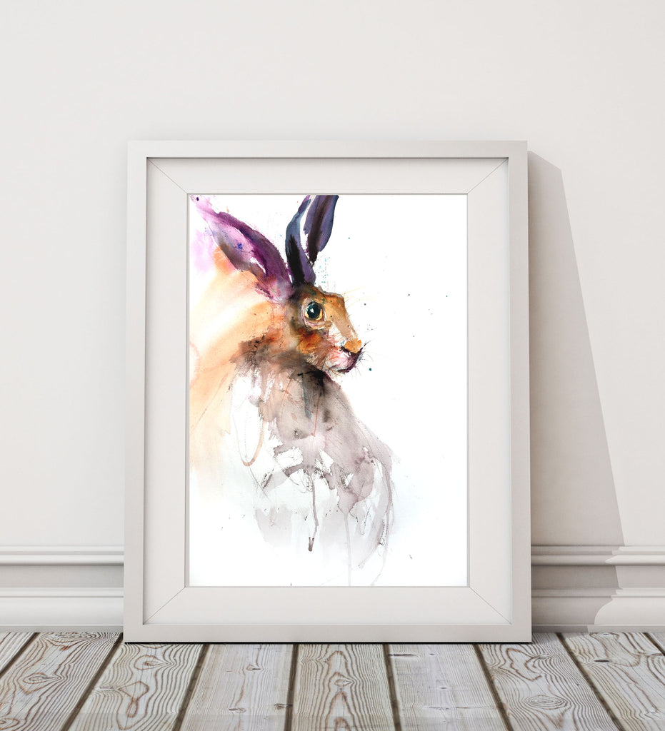Hare limited edition art print ciglee by Jen Buckley