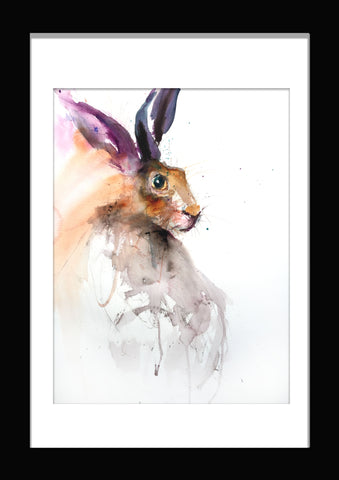 "Limited edition hare print ""Eva"""