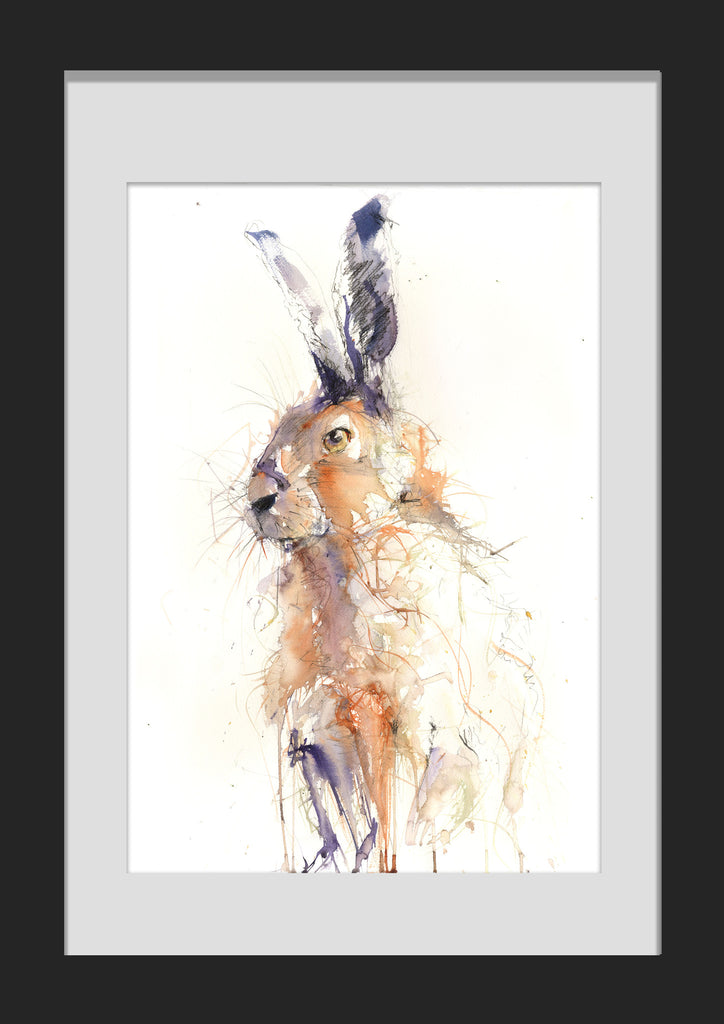 limited edition hare print by jen buckley