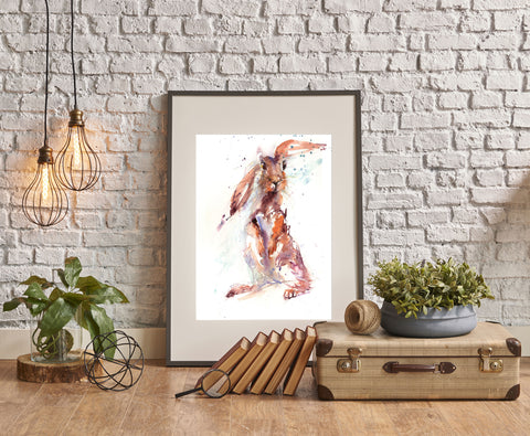 "Limited edition hare print ""lola"""