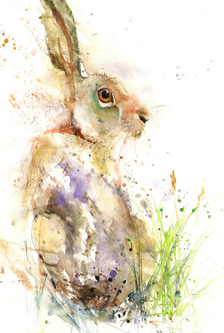 "Limited edition hare print ""Gemma"""