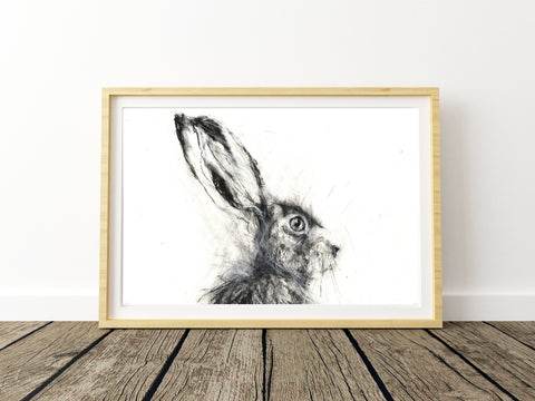 "Limited edition hare print ""Edward"""