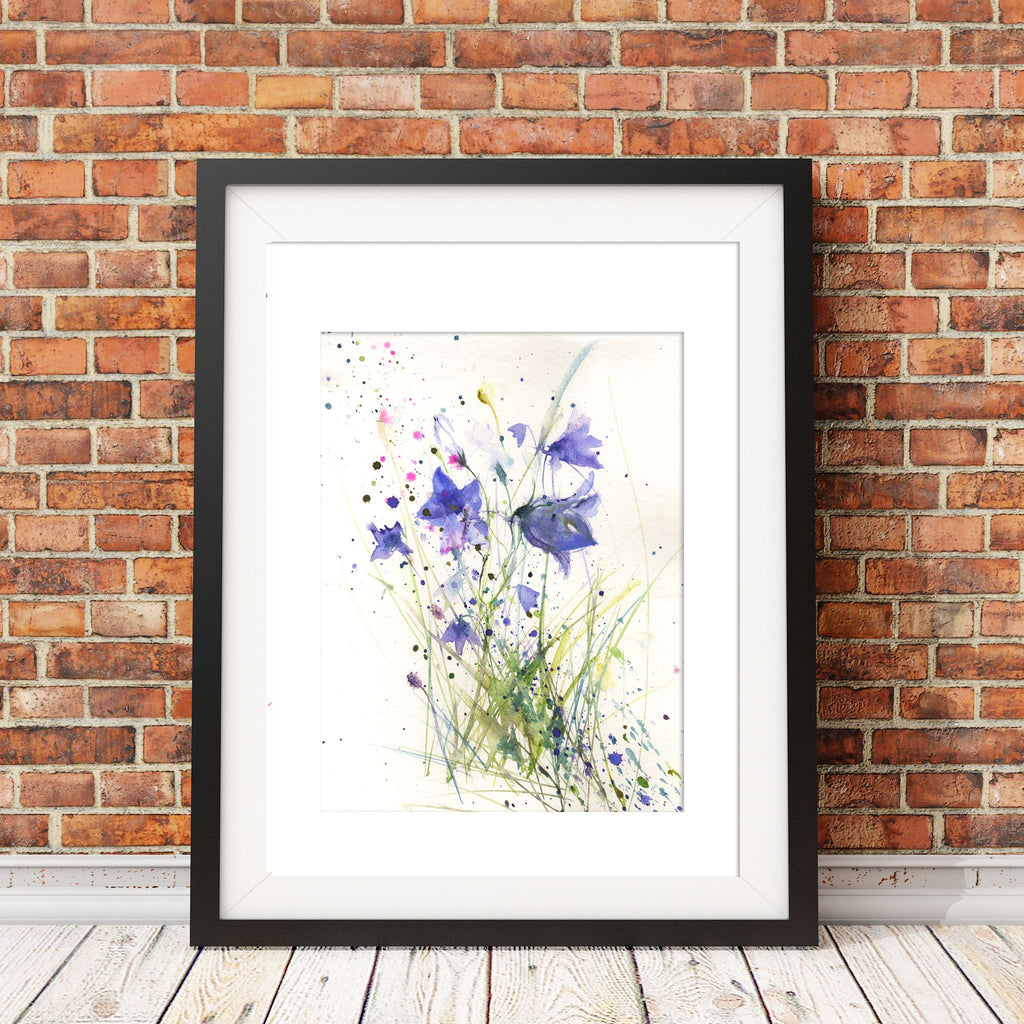 "Original watercolour painting ""Harebells"""