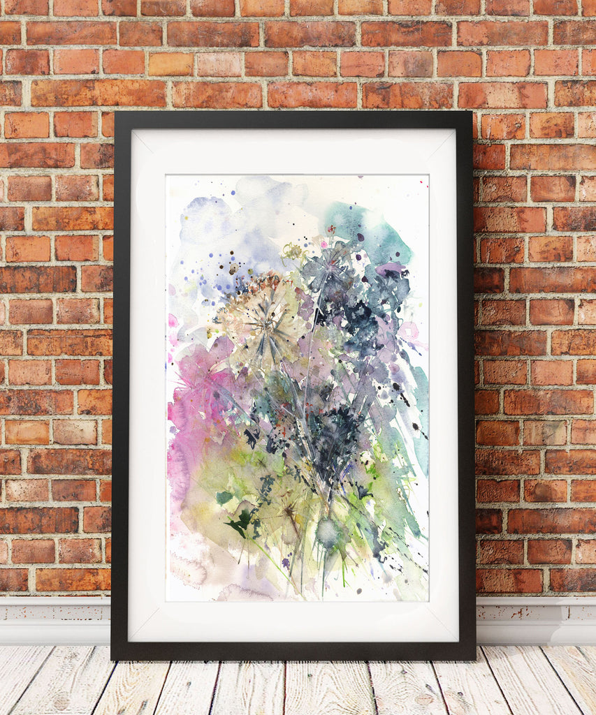 "Original watercolour painting ""Hedgerow"""