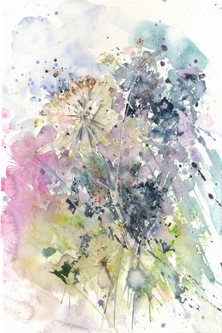 "art  print from original watercolour ""Hedgerow"""