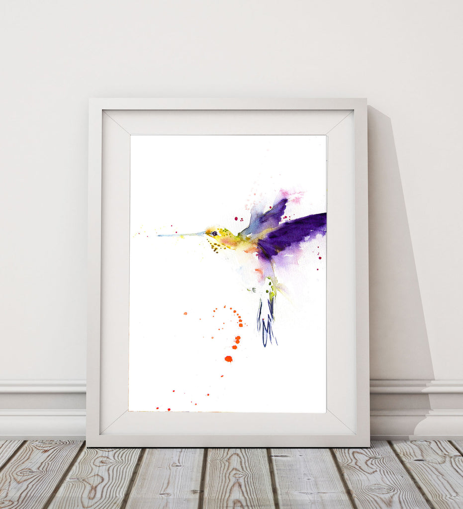 hummingbird print by jen buckley