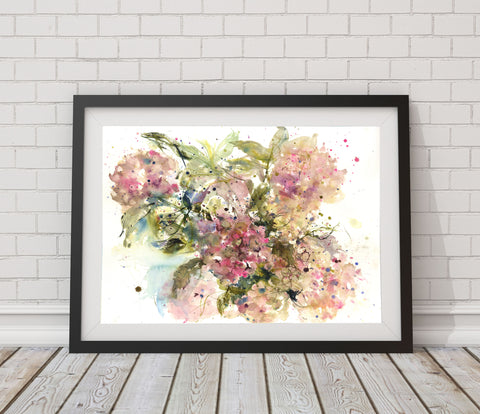 "Original watercolour painting ""hydrangeas"""
