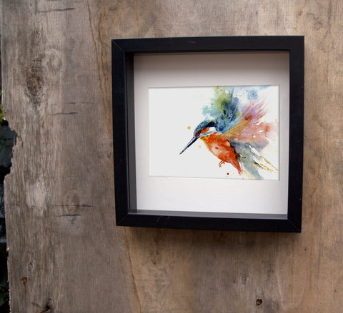 Kingfisher limited edition print - Jen Buckley Art limited edition animal art prints