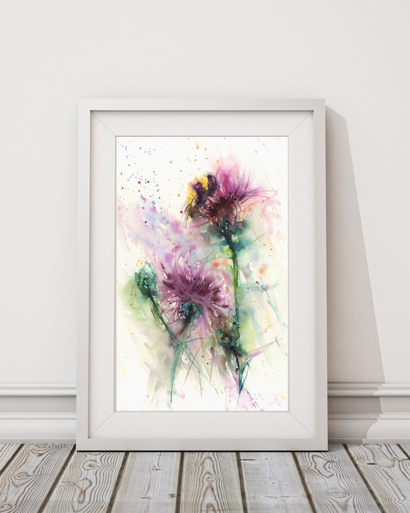 LIMITED EDITON PRINT of my original Bumble bee on a knapweed