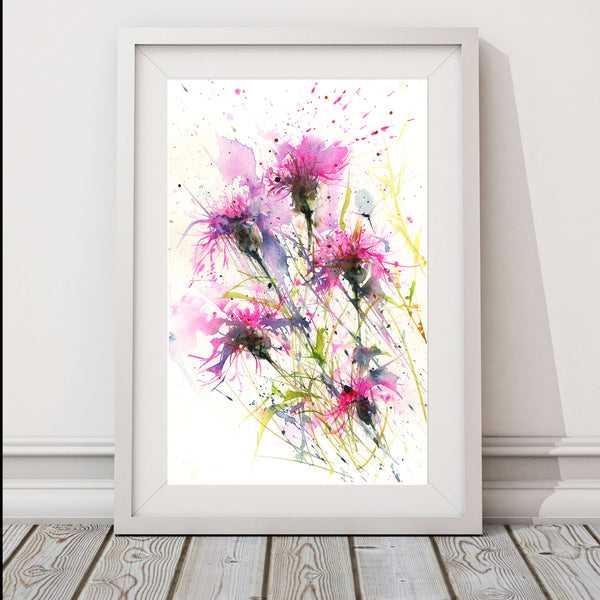 "Original watercolour painting ""knapweeds"""