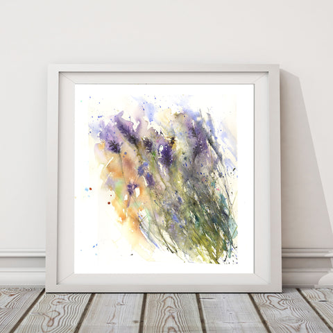 "Original watercolour painting ""Summer lavender"""