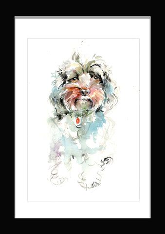 cockapoo watercolour print by jen buckley